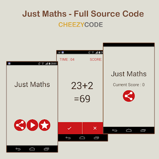 CheezyCode - Just Maths Android App Full Source Code
