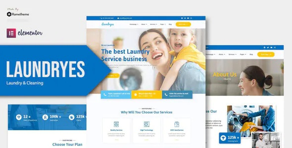 Best Laundry and Cleaning Elementor Template Kit