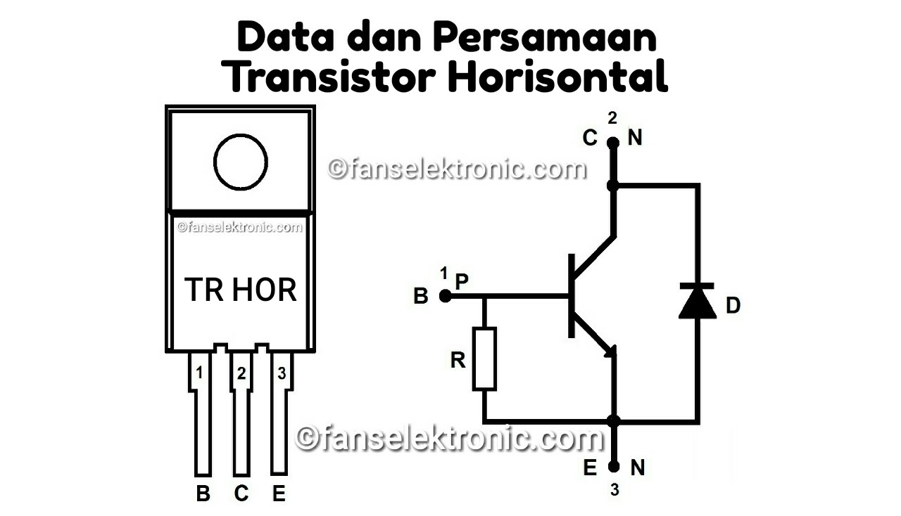 Kumpulan Data Persamaan Transistor Horizontal Terlengkap