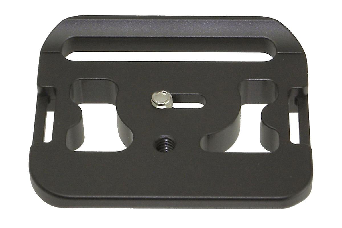 Desmond D7DG QR plate for Canon 7D w/ BG-E7 grip - top view
