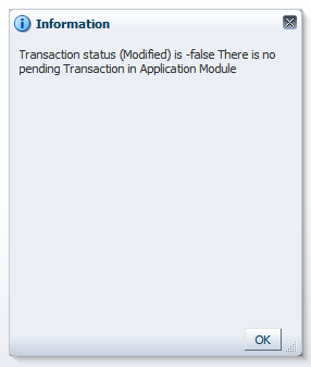Checking Transaction Status of DataControl for Dirty