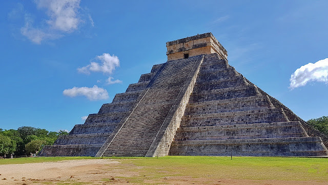 The main pyramid at Chichen Itza...