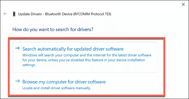 update driver bluetooth automatic
