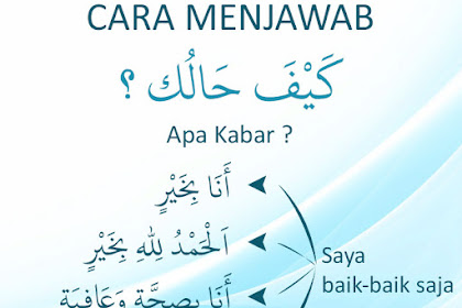 Jawaban Kaifa Haluk Bahasa Arab