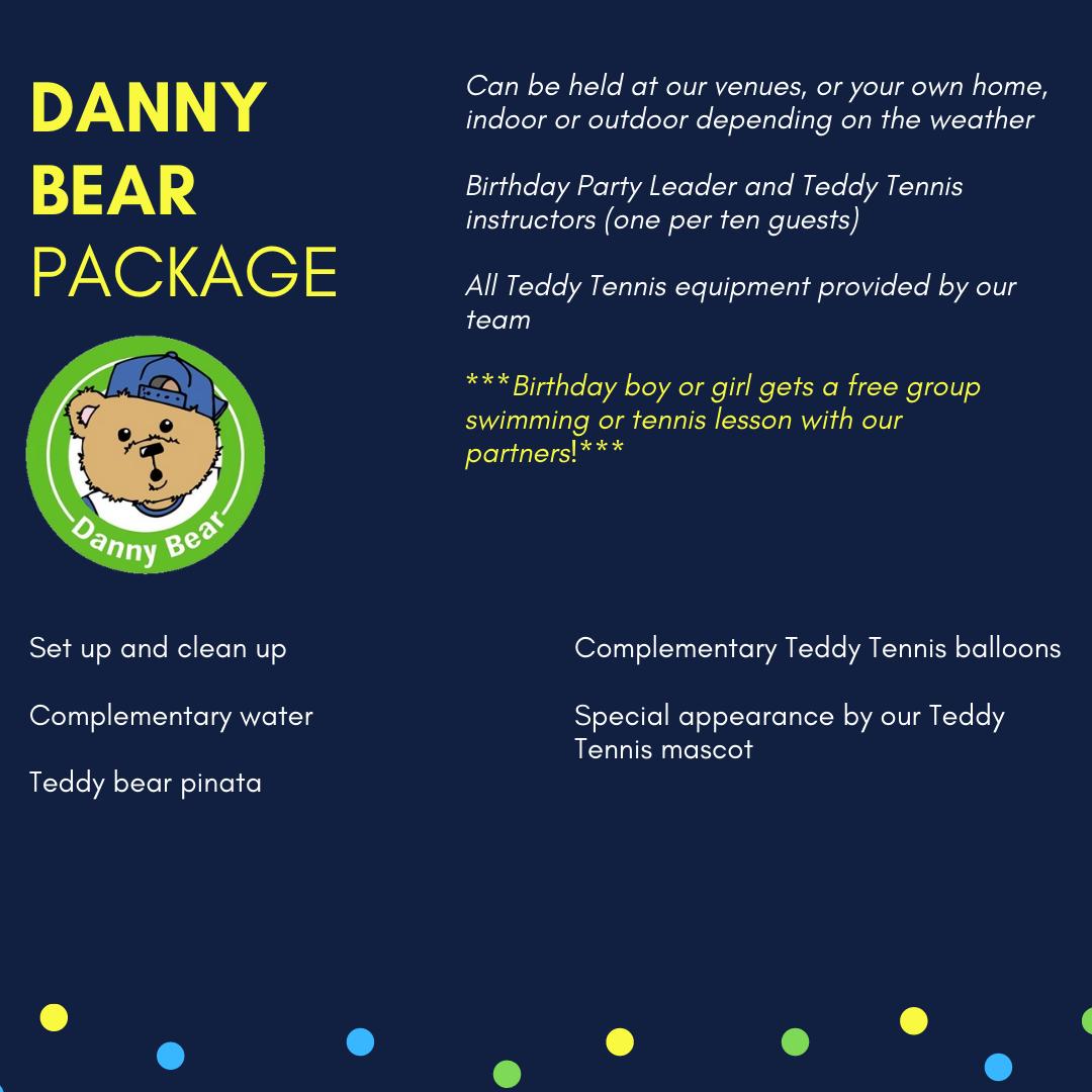 Sport theme birthday party service Muscat Oman Teddy Tennis