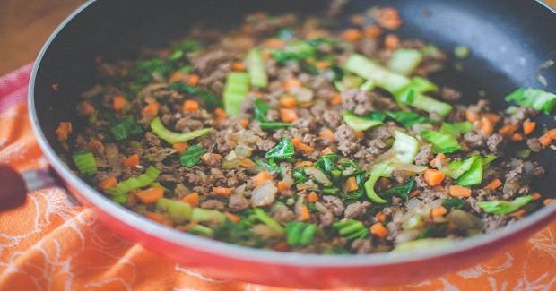 Asian-Style Ground Beef With Vegetables Recipe