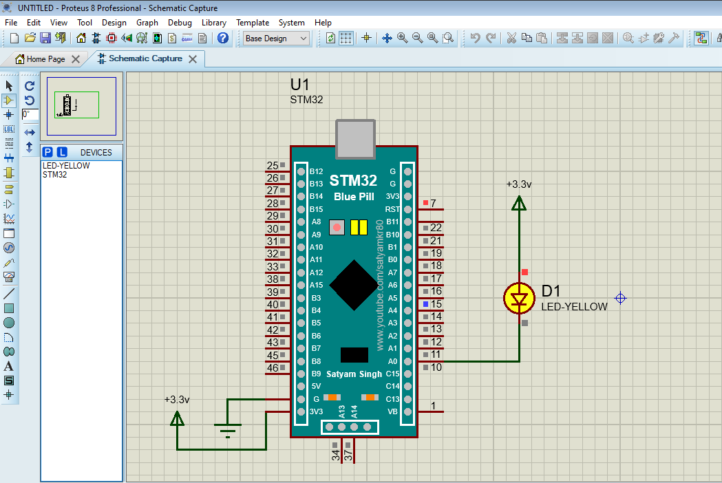 Stm32 Blepill library for proteus