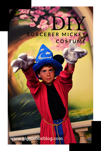 Sorcerer Mickey costume, how to make a Sorcerer Mickey costume, Sorcerer Mickey Halloween costume, Sorcerer Mickey, Disney Halloween costume DIY, Halloween costume idea for Mickey's Not So Scary Halloween Party,