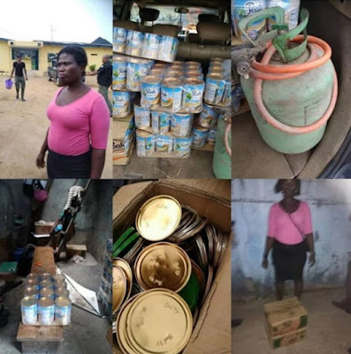 Police Captures Nigerian Woman Who Produces Fake Peak Milk
