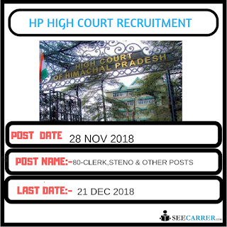 HP HIGH COURT CLERK STENO RECRUITMENT