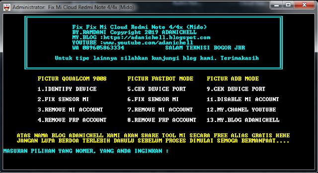 Fix Mi Cloud Redmi Note 4/4x (Mido)