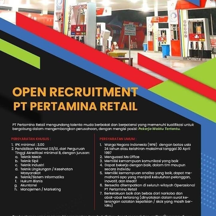 Info Loker Bumn Terbaru Maret 2021 Di Pt Pertamina Retail Medanloker Com Lowongan Kerja Medan