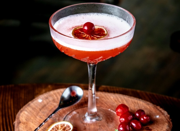 Sparkling Cranberry Prosecco Cocktail