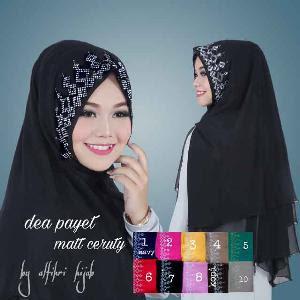 Jilbab Khimar Syar I Diamond Ratu Asli Hijab Trens Polos Kombinasi