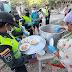 Policía en Valledupar brindó espaguetada a familias de la margen derecha del rio Guatapuri