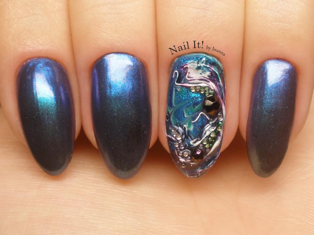 """Słowianka Nail Trends """"Mistic"""" nail art + Kat Von D """"Alchemist"""" palette"""
