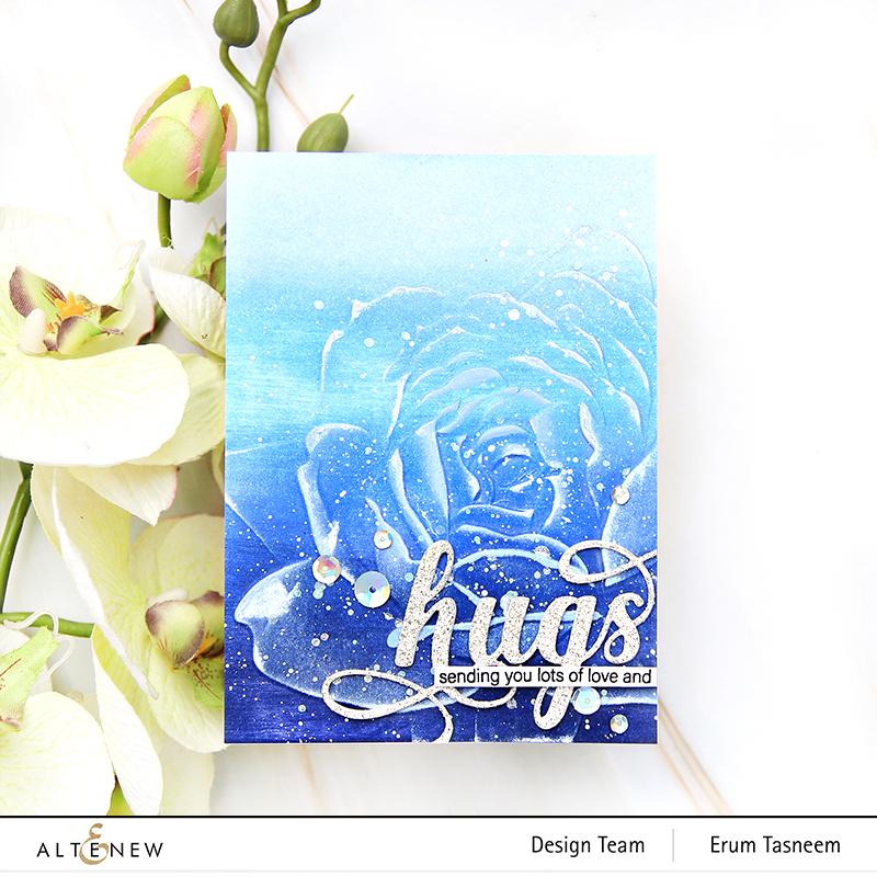 Altenew Rosy 3D Embossing Folder | Erum Tasneem |@pr0digy0