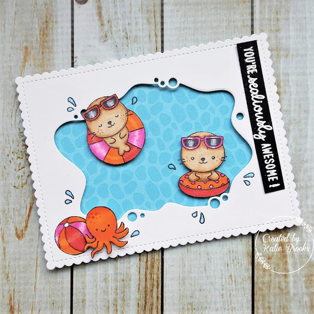 Sunny Studio Stamps: Sealiously Sweet Customer Card by Katie Brooks