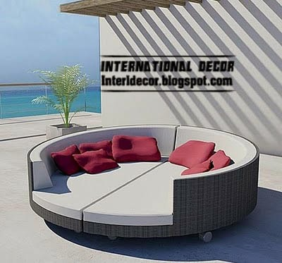 double sofa bed, modern outdoor furniture
