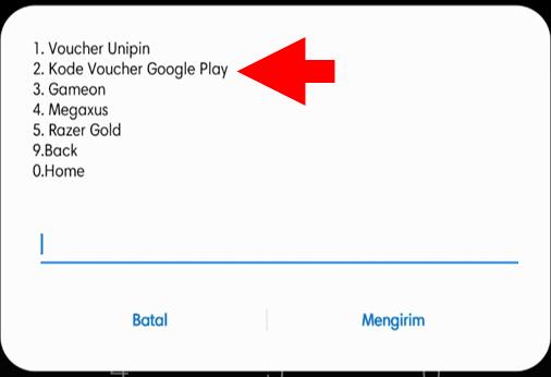 Pilih Menu Kode Voucher Google Play