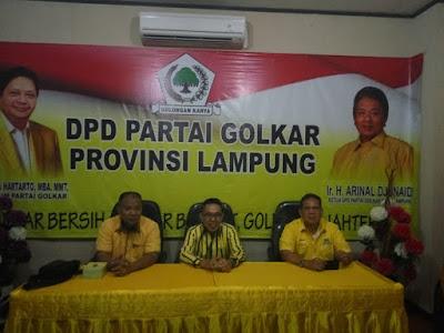 Zaiful Bokhari Paparkan Visi-Misi di DPD I Golkar Lampung