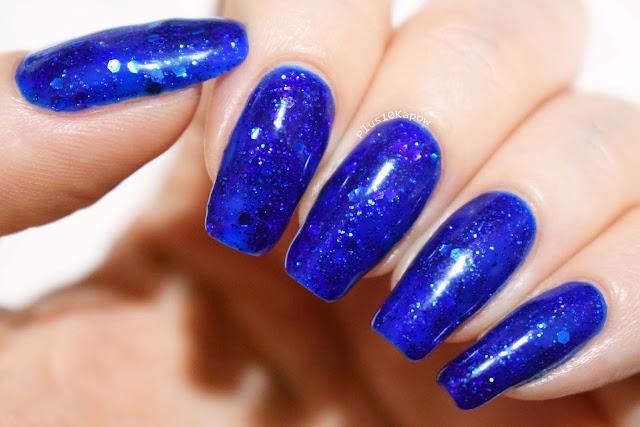 Kiki London Disco Blue Gel Polish Swatches