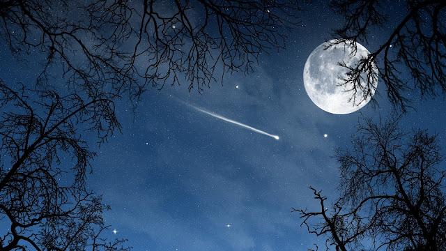 Luna Llena y Estrellas