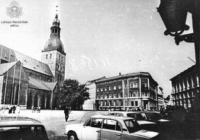 1984 год. Рига. Вид на площадь 17 Июня
