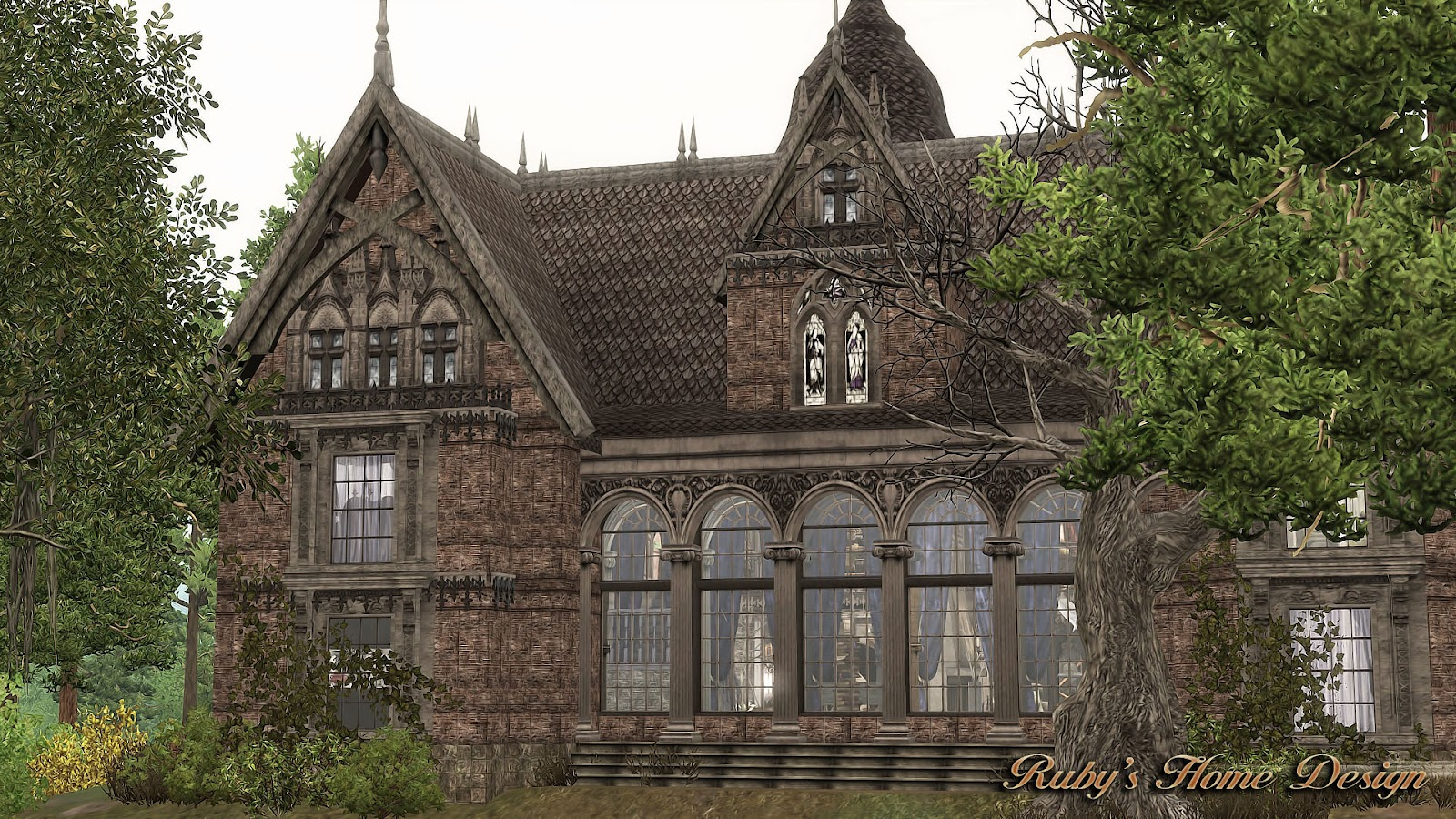 Sims3 the gothic mansion ruby 39 s home design for Classic house sims 3