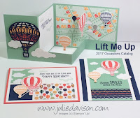 Stampin' Up! Lift Me Up card Kit from 2017 Occasions Catalog for Julie Davison's Stamp of the Month Club. Learn More at http://juliedavison.com/clubs