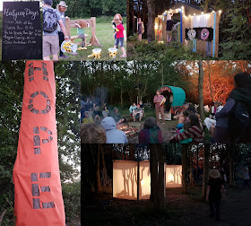 Timber Festival 2019 review Friday evening collage with campfire stocks storytelling music