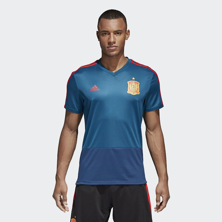 new arrival f7a99 0522d Adidas Spain 2018 World Cup Training Kit & ZNE Jacket ...
