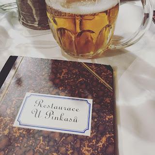carte restaurant u pinkasu prague biere pilsner urquelle