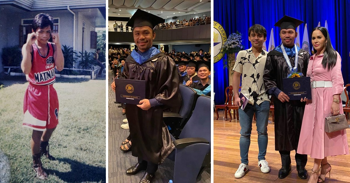 Pacquiao graduates from college, plans to proceed with Master's in Harvard