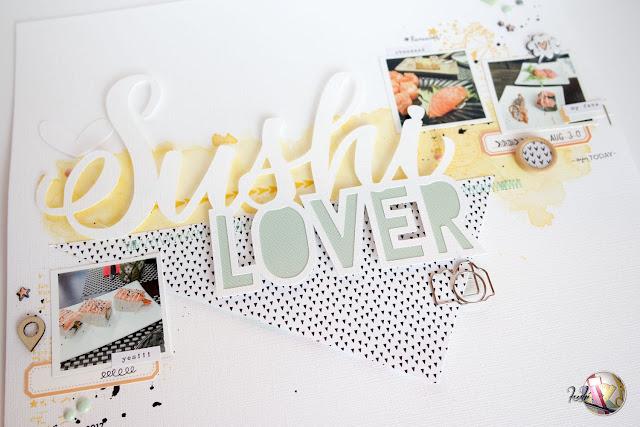scrapbook layout | sushi lover by kushi per Scrappiamo Insieme