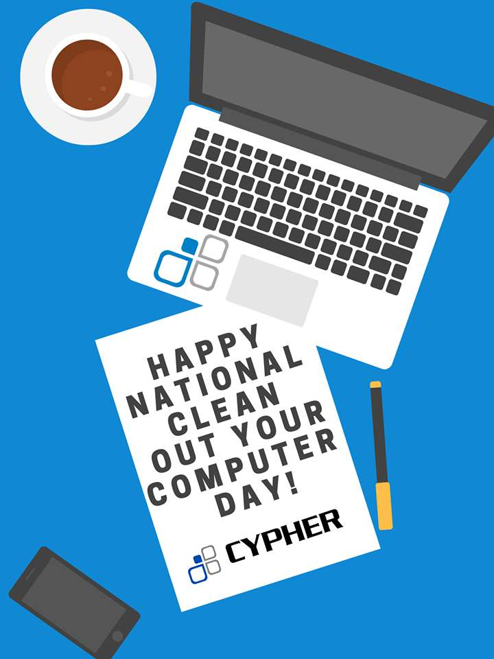 National Clean Out Your Computer Day Wishes for Instagram