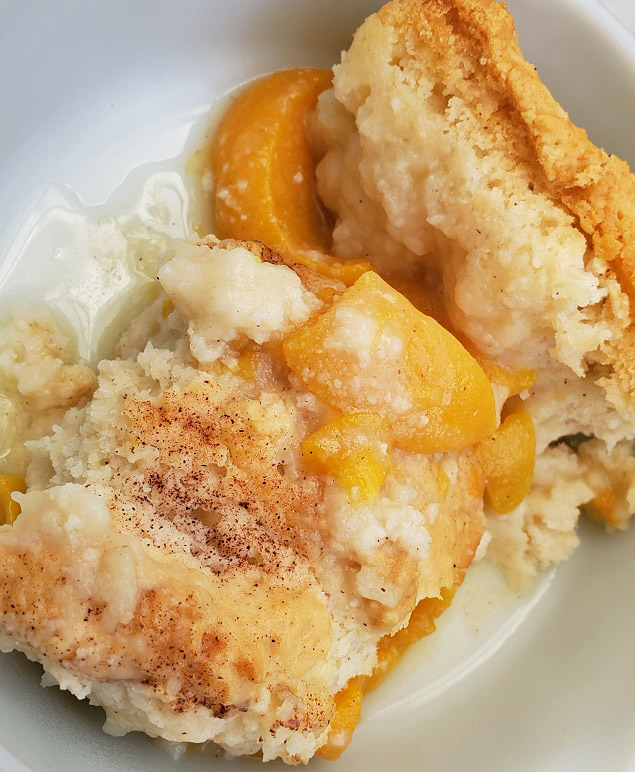 this is baked peach dumplings