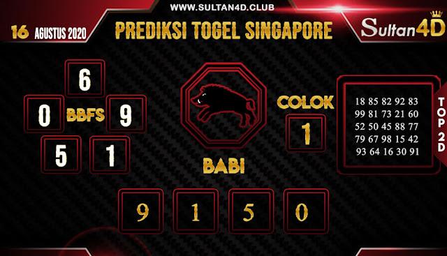 PREDIKSI TOGEL SINGAPORE SULTAN4D 16 AGUSTUS 2020