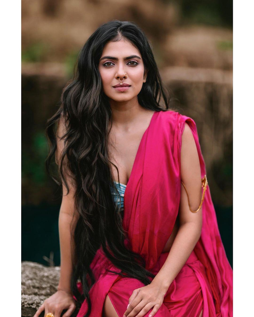 hot actress malavika mohanan pics apsara dress urvashi