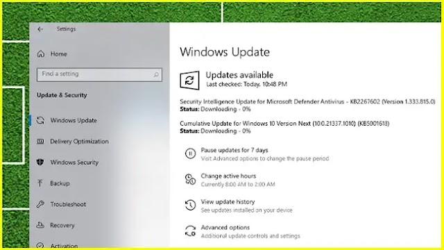KB5001618 Windows 10 21337.1010 in the dev channel