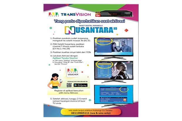 Cara Aktivasi Receiver Nusantara HD