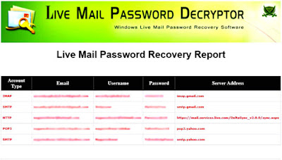 Live Mail Password Decryptor Free Download