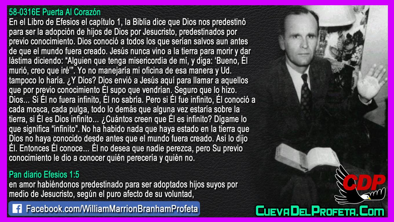 Predestinados por previo conocimiento - William Branham en Español