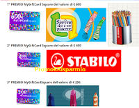 """Stabilo Concorso Famiglia """"Che faccia ti faccio ?"""" : vinci gratis MyGiftCardSquare Epipoli da 600, 400 e 250 euro"""