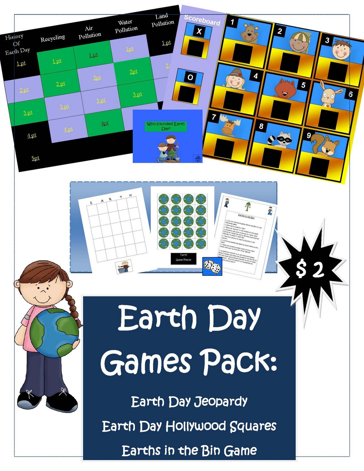Made 4 Elementary And Made 4 Middle School Earth Day Math Science And Literacy Activities