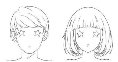 Personnages avec des étoiles dans les yeux