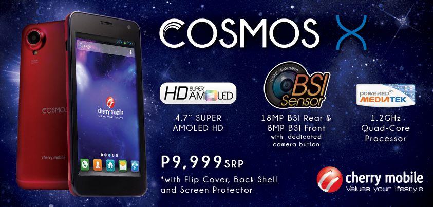 Cherry Mobile reveal Cosmos X price, a SUPER AMOLED Quad core phone