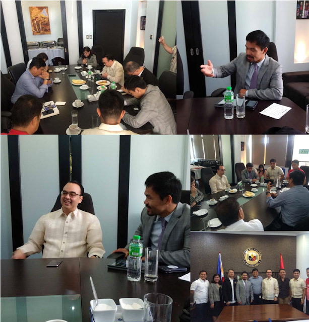 Viral Photos Of Senators Manny Pacquiao And Allan Cayetano During Their Bible Study! SEE IT HERE!