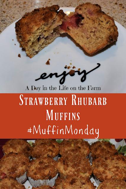 Strawberry Rhubarb Muffins pin