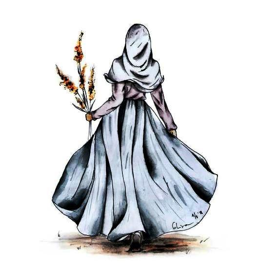 Animasi kartun muslimah cantik berhijab
